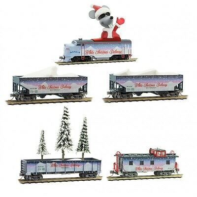 Micro-Trains #99321280 White Christmas Delivery Train Set N-Scale