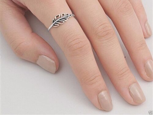 USA Seller Sideways Leaf Ring Sterling Silver 925 Best Price Jewelry Selectable