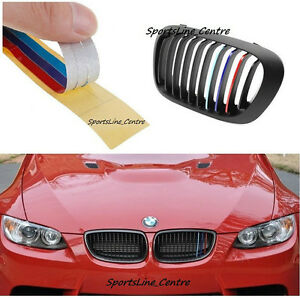 BMW Kidney Grill M Sport Colour Stripes Sticker X X X - Bmw m colored kidney grille stripe decals