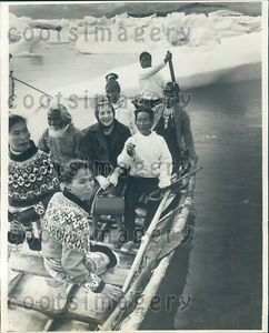 Image Is Loading 1968 Queen Ingrid Of Denmark Rides In Umiak