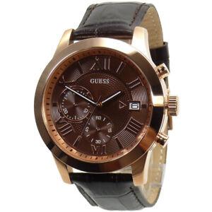 ec694378a Guess Men's Watch Chrono W0669G1 Rose Gold Brand Watch Wristwatch ...