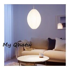 Image Is Loading Ikea Solleftea Pendant Lamp Shade White Oval Rice