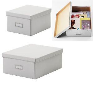 Storage box with lid craft jewelry organiser kitchen dvd for Craft storage boxes with lids