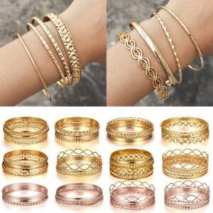 Bracelet Set Gold Bangles Charm Boho