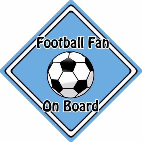 Football Fan On Board Car Sign ~ Baby On Board Safety Sign ~ Football L.Blue
