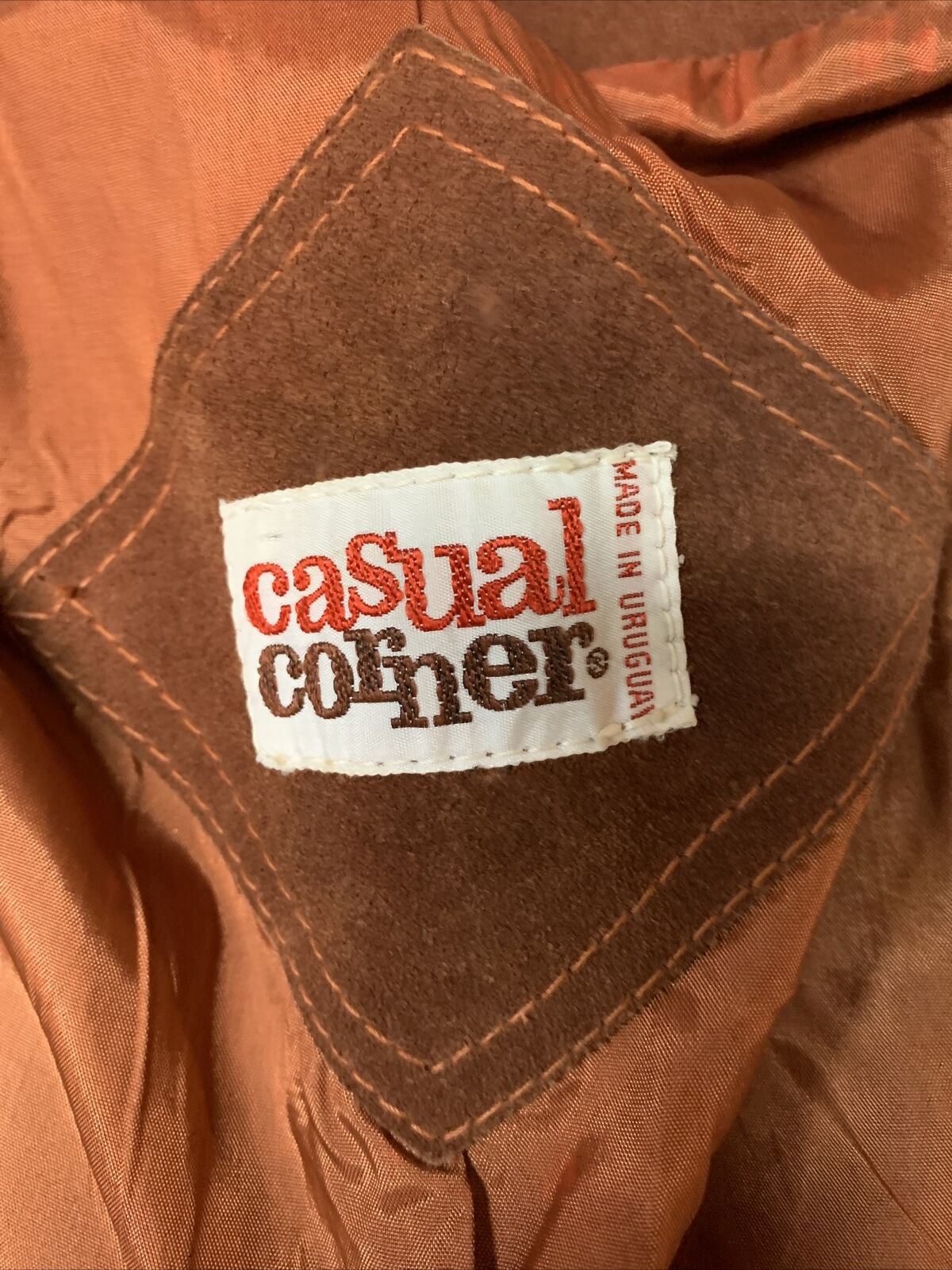 Vintage 1970s Casual Corner Leather Suede Brown J… - image 8