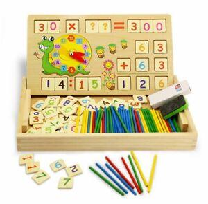 Montessori-Mathe-Spiel-Lernbox-mit-Multifunktionen-Zahlen-Rechnen-Lernuhr