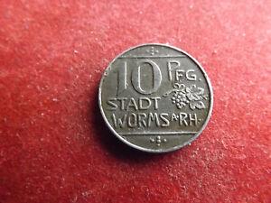 * Notgeld Stadt Worms A. Rh. 10 Pfennig 1918 (schub 34)
