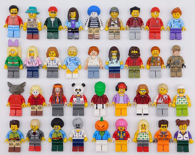 100  Lego Random Assorted Minifigures with Accessories Mini Figs All Body Parts