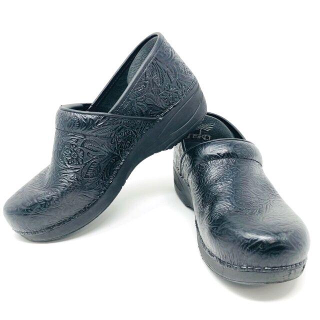 Black Tooled Clog Work Shoe Size