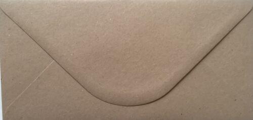 DL//Tall Premium Fleck Enveloppes kraft par fou comme un Crafter