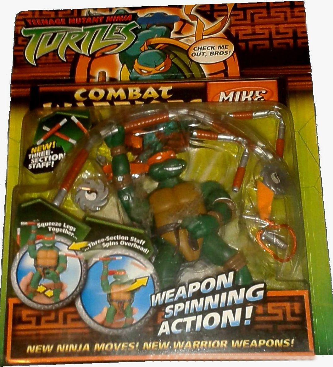 Teenage Mutant Ninja Turtles 5  Combat Warriors Mike Michelangelo New 2005