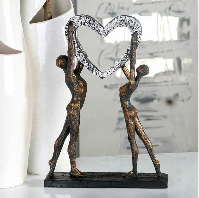 79293 Sculpture Victory de Poly Finition en Bronze sur Noire Base Hauteur 37 CM