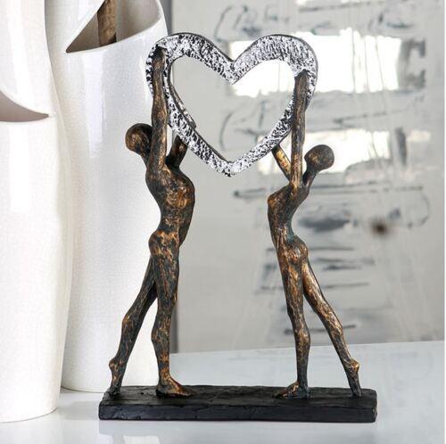 79293 Sculpture Victory de Poly Broncefinish sur Noir Base Hauteur 37 cm
