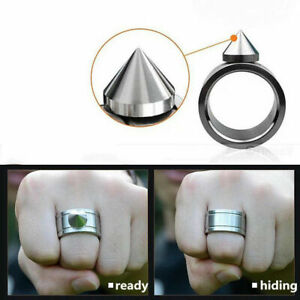 Outdoor-Self-defense-Stainless-Ring-Defense-Ring-Necklace-Outil