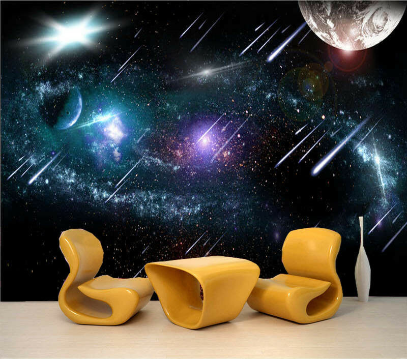 Meteor Shower 3D Full Wall Mural Photo Wallpaper Printing Home Kids Decoration
