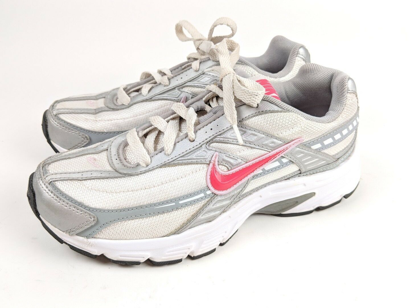 Nike 394053-101 Initiator Gray/Pink Running Athletic Shoes, Women's US 6.5