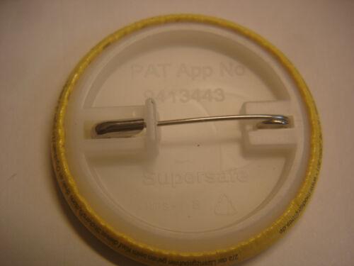 Button Sticker Pin Pins 37 mm Retro 70 er AKW Nein Danke 10 Stück Atomkraft