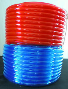 "3/4"" ID x 1"" OD - 50 ft, Translucent Red or Blue Flexible PVC Vinyl Tubing"