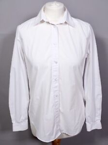 97363d3c1 James Meade White Blouse Top 10 12 Shirt Oversized Work Smart Formal ...