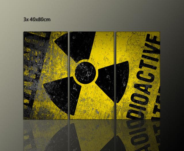 DESIGNBILDER WANDBILD Radioaktiv Wohnzimmer 3 Teilig Modernes Bild