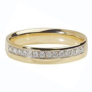 Image Is Loading Diamond Wedding Ring 18 Carat Yellow Gold 4mm
