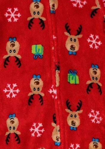Family Pajamas Unisex Baby Boys or Girls Christmas Reindeer Footed PJ/'s