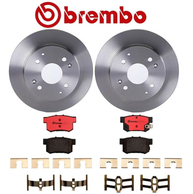 For Acura CL Honda Accord Rear Brake Kit Solid Disc Rotors