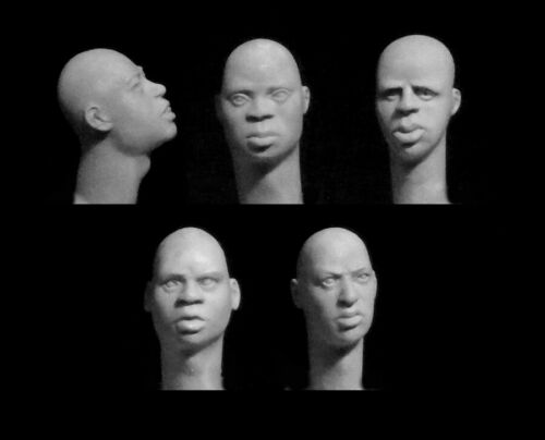 Hornet 1//35 5x Bare Heads Black African Features