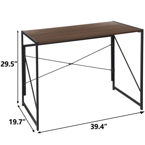 Computer Writing Desk Folding Study Table Wall Side Table With Foldable Legs