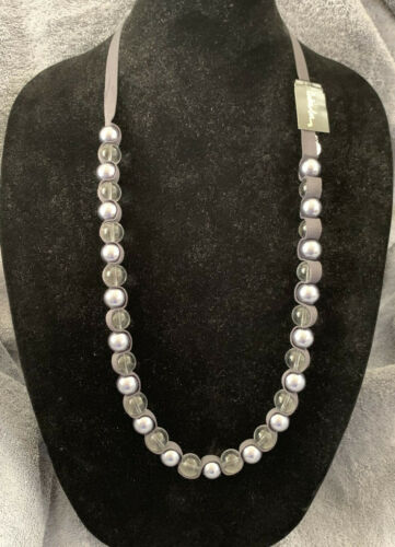 """Cookie Lee Glass Bead Necklace 16 """" in Length--Poo"""