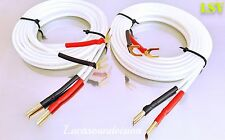 NEW 2 x 1m (A Pair) VAN DEN HUL- CLEARWATER Audio Speaker Cables Terminated