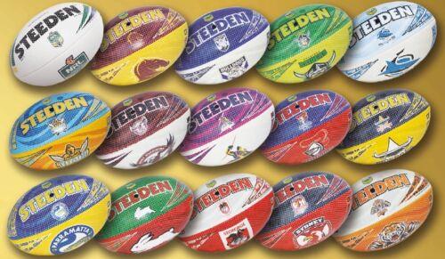 Authentic Steeden NRL Club Beach Footballs (Size 5)
