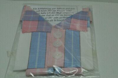 3 Herren Taschentücher - Schlafanzug Stofftaschentuch Weiss/blau/rosa