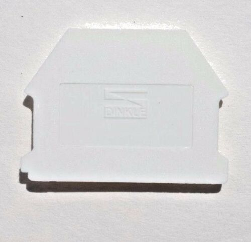 DIN Rail Terminal Block End Covers 50 Quantity Dinkle DK4NC-WE for DK4N-WE White