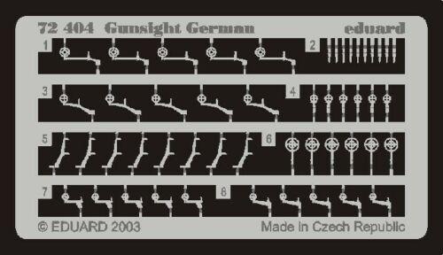 German Gunsights EDU72404 EDUARD MODELS 1//72 Aircraft