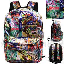 JoJo's Bizarre Adventure Backpack Bag Knapsack Packsack School Travel Bags