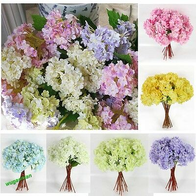 1/5 Pcs Artificial Craft Hydrangea Bouquet Party Wedding Fake Bridal Silk Flower
