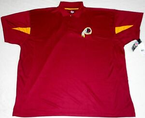 sports shoes 078b4 334f6 Details about WASHINGTON REDSKINS MAJESTIC GOLF COACHES POLO SHIRT BIG  MEN'S 4X 5X MAROON NWT