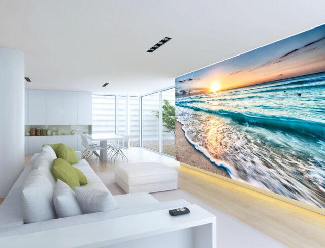 Photo Wallpaper Non-woven fleece //Self-adhesive Foil Beach Sea c-C-0020-a-a