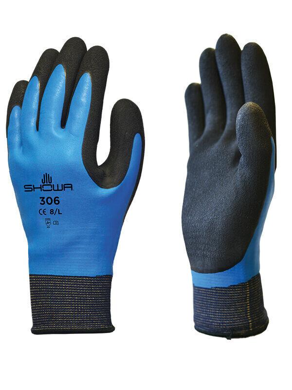 1 Pair Showa Waterproof Latex Grip Breathable Outdoor Pursuits Work Gloves (306)