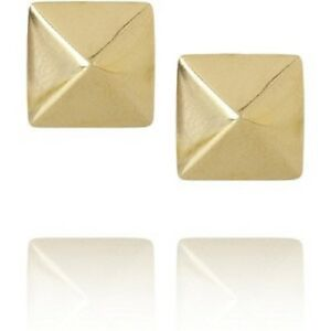 100-NEW-Gold-Color-Square-Piramids-Studs-4-Legs-Leatherworking-Arts-Crafts-Shoes