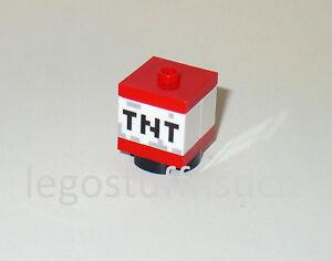 new lego minecraft tnt block red brick mine explosion crafting box
