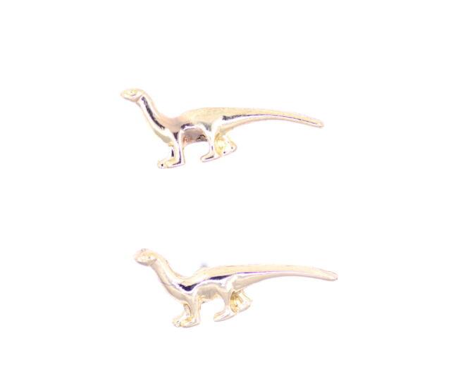 Super cute gold tone dino dinosaur Megalosaurus stud earrings