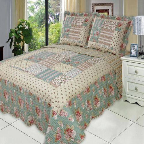 ALL SIZES Oversized Annabel Microfiber Coverlet Quilt with Pillow Shams