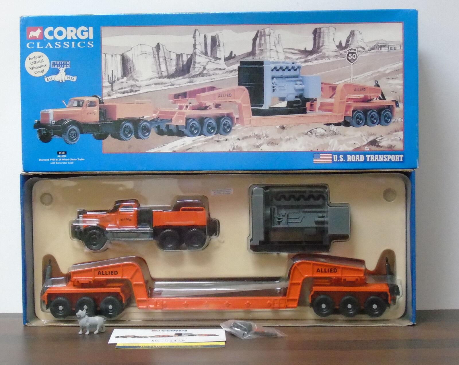 Corgi 55301 ALLIED Diamond T980 & 24 Wheel Girder Trailer with Generator Load