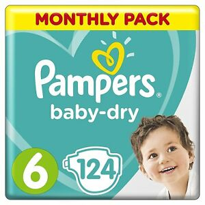 Pampers Baby Dry Taille 6 Air Respirant Canaux Mega Pack 124 Couches 13-18 Kg-afficher Le Titre D'origine Nl7sembr-10115051-55