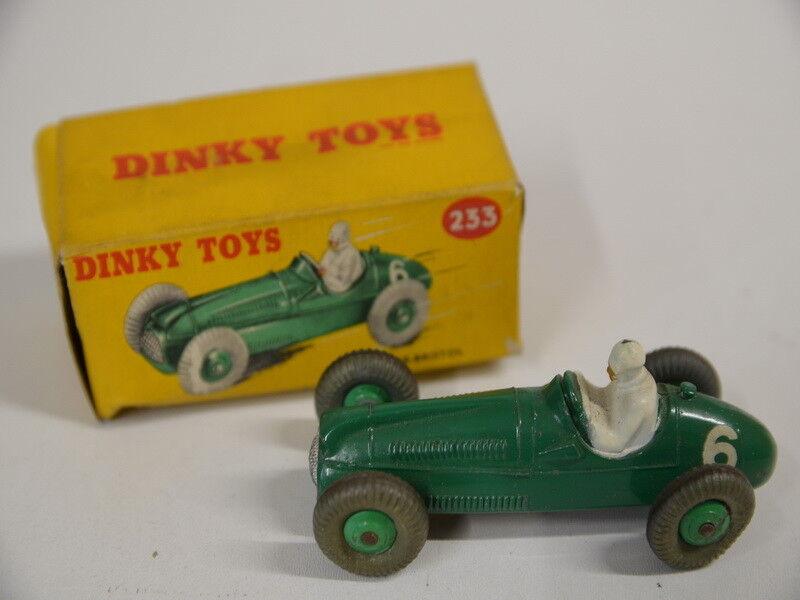 25b ) Dinky Toys no. 233 Cooper Bristol - grün mit Box - Reifen defekt