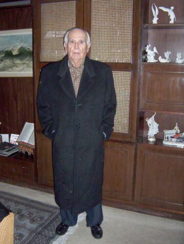 Men Coat Luxury Alpaca Long Size Good For L Condition Very Gift Black 4Yxggw