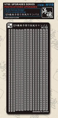 OceanSpirit H119 1//700 Scale Canvas Dodger Fabric covered railing